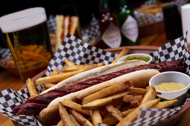 Hot Dog French Fries Food Fast Food
