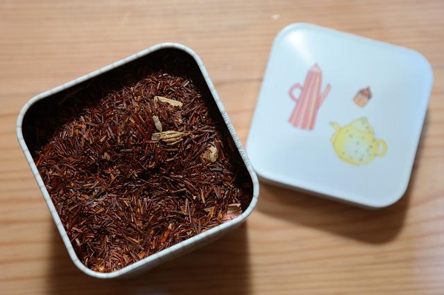 Box Tea Caddy Tee Storage Lid