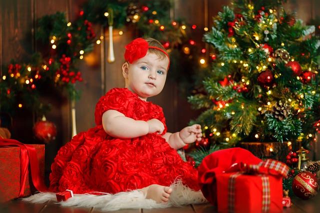 Kid Girl Child Baby Red Dress